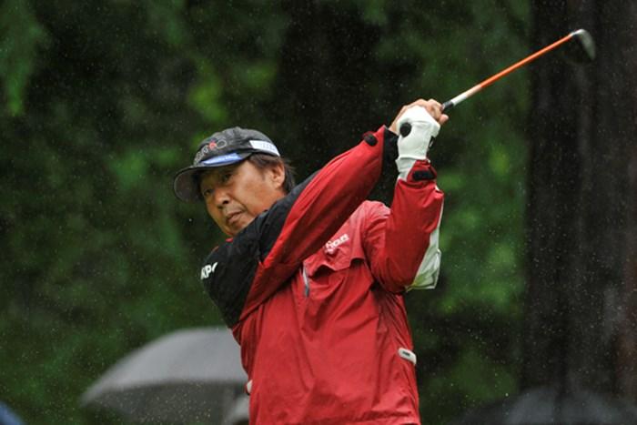 「明日は直道さんについていくしかない」。奥田靖己が4打差を追う※画像提供:日本プロゴルフ協会 2012年 スターツシニアゴルフトーナメント  2日目 奥田靖己