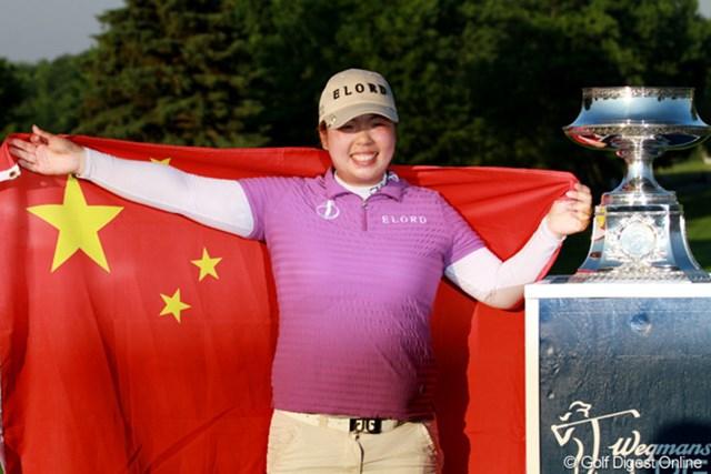 中国本土出身選手として初優勝を飾ったフォン・シャンシャン。今季は日本ツアーを含めて2勝目だ!