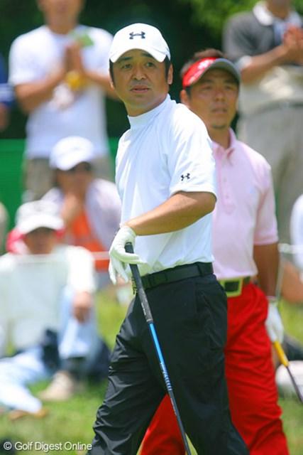 日本プロゴルフ選手権大会3日目 単独首位をキープした伊澤利光。2打差のリードを守りきれるか