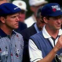 1998年全米オープン最終日/左:ペイン・スチュアート、右:リー・ジャンセン(Craig Jones/Getty Images) 佐渡充高が簡単解説!初めてのPGAツアー【番外編】 ペイン・スチュアート、リー・ジャンセン