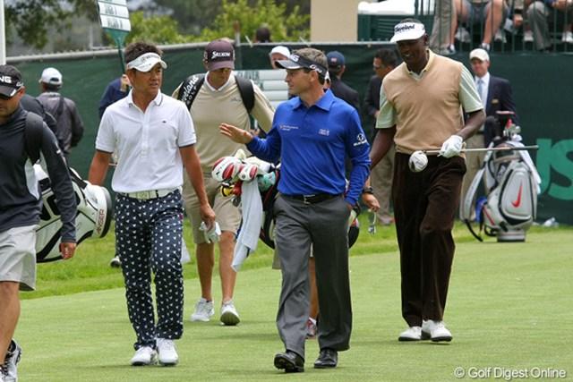 2012年 全米オープン 事前  藤田寛之 M.ウィルソン、V.シンと練習ラウンドをともにした藤田寛之