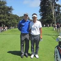 開幕2日目の今日は藤田さんのオファーでマーク・ウィルソン選手と練習ラウンドを行いました。(撮影・梅原敦) 2012年 全米オープン 藤田寛之 マーク・ウィルソン