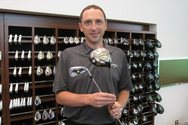 キャロウェイのクラブやボールの新製品開発、テクノロジー、デザインなどを手がけるアラン・ホックネル氏