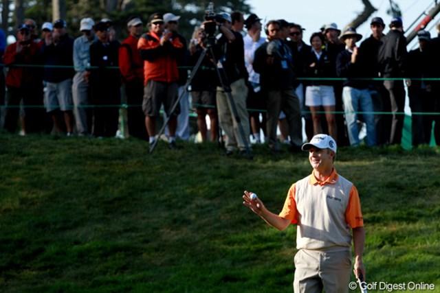 2012年 全米オープン 2日目 デビッド・トムズ 45歳のトムズがトップタイに立った!ツアー13勝、2001年の全米プロを制している