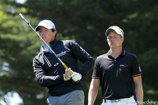 2012年 全米オープン 2日目 ロリー・マキロイ&ルーク・ドナルド 世界ランクのトップ2人があえなく予選ラウンドで姿を消した
