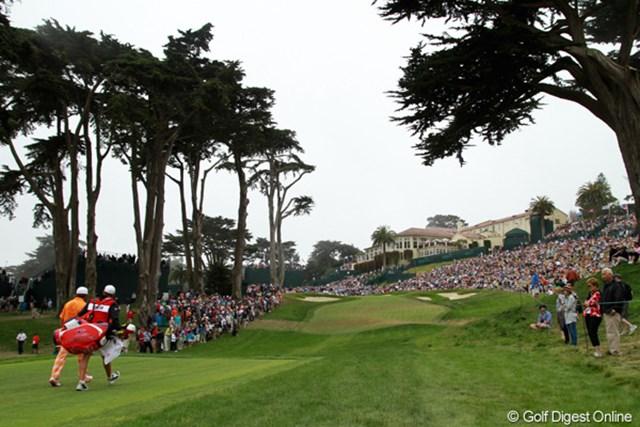 2012年 全米オープン 最終日 オリンピッククラブ すばらしい舞台を提供してくれた名門クラブ。サンフランシスコのダウンタウンにもクラブの施設がある