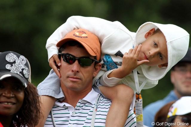 2012年 全米オープン 最終日 父の日 全米オープン最終日は毎年父の日にあたる。子供連れのお父さんもたくさんいた