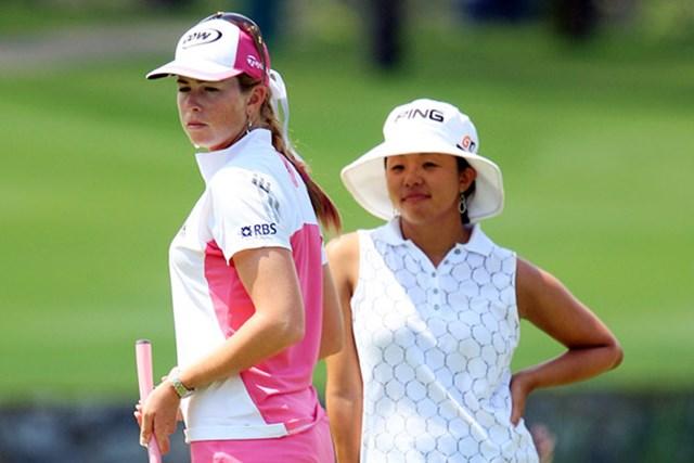 ポーラ・クリーマーとジェーン・パーク 首位タイに並んだポーラ・クリーマーとジェーン・パーク。抜け出すのは?(Scott Halleran/Getty Images)