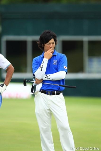 2012年 ミリオンヤードカップ 事前 石川遼 俺、やっぱもうちょっと細いパンツのが似合うよなぁ。。。