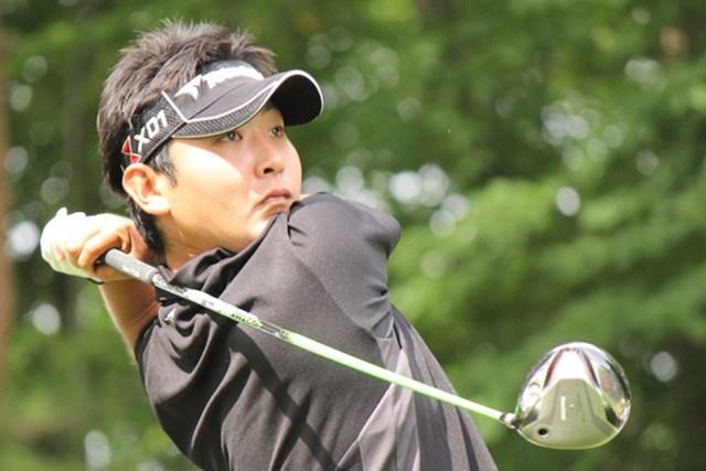 2012年 東急那須リゾートJGTOチャレンジII 初日 河野祐輝 河野祐輝はチャレンジツアー初勝利を挙げてからすぐに2勝目のチャンスを手にした。
