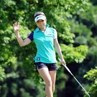 日本人トップタイですゥ~。シーズン前の宮崎女子オープンでも初日良かったので覚えてました~!足が細くてグ~ですゥ~!2位T 2012年 日医工女子オープンゴルフトーナメント 初日 林綾香