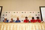 2012年 ミリオンヤードカップ 2日目 共同会見に出席した両チーム