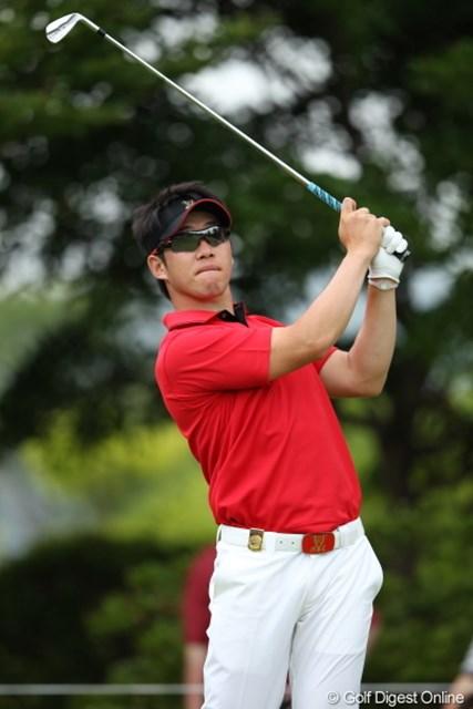 優しげな笑顔が印象的なカン・キュンナム。今、韓国ツアーで一番ホットな選手だという。