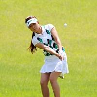 4番、5番といずれもアプローチを寄せきれずに連続ダボ。首位争いから早々に脱落した。 2012年 日医工女子オープンゴルフトーナメント 2日目 林綾香