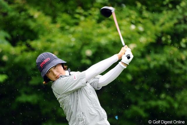 2012年 日医工女子オープンゴルフトーナメント 最終日 全美貞 雨にも負けず、風にも負けず。最後まで崩れる気配を見せなかった