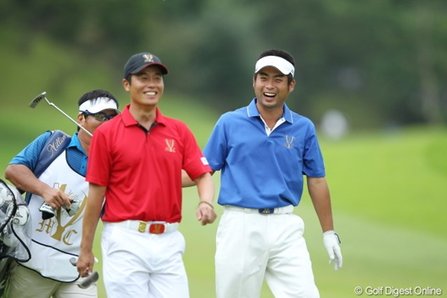 2012年 ミリオンヤードカップ 最終日 池田勇太 I.J.ジャン やけに楽しそうにラウンドしていた。今日はご機嫌なのかな。