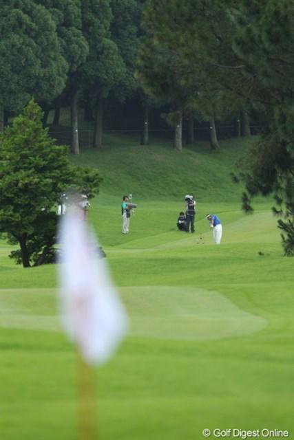 2012年 ミリオンヤードカップ 最終日 池田勇太 果敢にツーオンを狙う勇太。