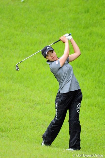 2012年 日医工女子オープンゴルフトーナメント 最終日 森田理香子 風雨ともに激しかった前半は、さすがにもたついたけど、後半しっかり巻き返してスコアを伸ばしました。マタ&リカコーのコンビはホンマに驚異ですワ。6位T
