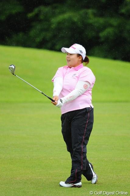 2012年 日医工女子オープンゴルフトーナメント 最終日 アン・ソンジュ 76、67、75というジェットコースターのようなスコアでした。先週の最終日の大失速の呪縛やろか?15位T