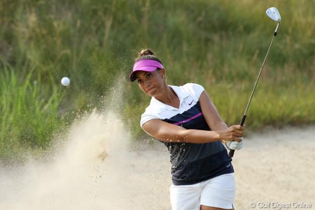2012年 全米女子オープン 2日目 シャイアン・ウッズ 通算+9で決勝Rへは進出できず。期待値が高いだけに本人も辛い