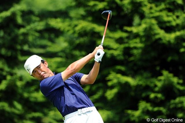 2012年 長嶋茂雄 INVITATIONAL セガサミーカップゴルフトーナメント 3日目 鈴木亨 北海道とは思えぬ暑さの中、46歳はしっかりと上位集団に残った。