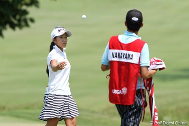 2012年 全米女子オープン 3日目 中山三奈 英語も堪能で海外に友達も多い。すでに気持の半分は国外にある中山三奈
