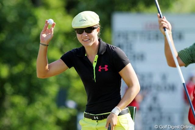 2012年 全米女子オープン 3日目 ビッキー・ハースト 通算イーブンだがトップとは8打差。ナヨンが崩れない限り優勝は難しくなった