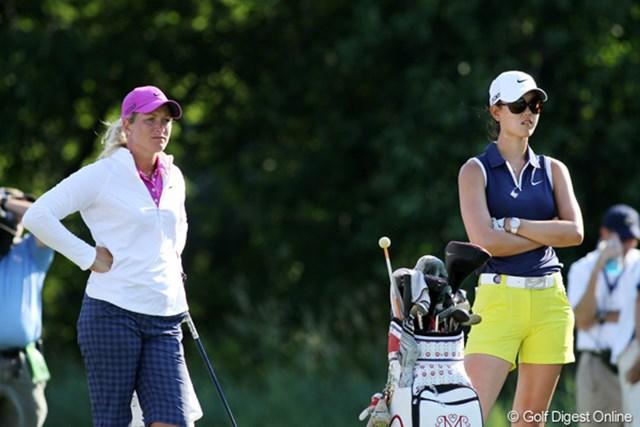 2012年 全米女子オープン 3日目 スーザン・ペターセン&ミッシェル・ウ 最終組でプレーした二人はともに精彩を欠き、首位から大きく離されてしまった