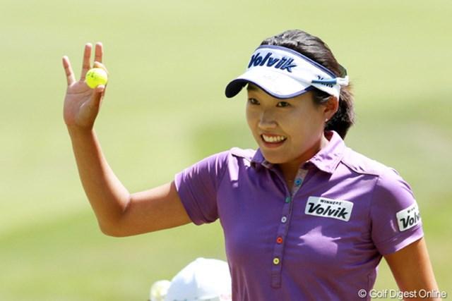 2012年 全米女子オープン 最終日 I.H.リー トップ5までに3人の韓国人選手が入った。最終日に-2で順位を16位上げ4位タイでフィニッシュ