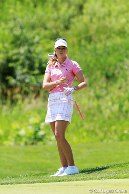 2012年 全米女子オープン 最終日 ポーラ・クリーマー アメリカ人では最高位の7位タイでフィニッシュ。意地を見せた