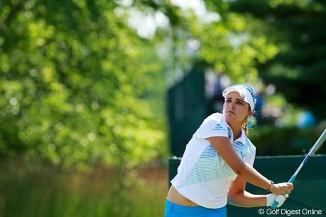 2012年 全米女子オープン 最終日 レクシー・トンプソン 78を叩いて前日の3位タイから14位タイまで陥落。ナショナルオープンの壁は厚かった