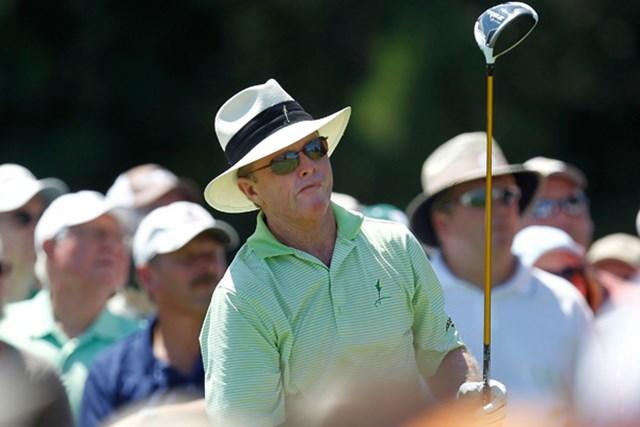 2012年 全米シニアオープン選手権 初日 トム・カイト 5アンダーをマークし単独首位に立ったトム・カイト(Gregory Shamus/Getty Images)