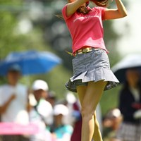 ゴルフのスイングまで美しいなんて・・・神様は不公平だ!! 2012年 サマンサタバサ ガールズコレクション・レディーストーナメント 事前 蛯原友里