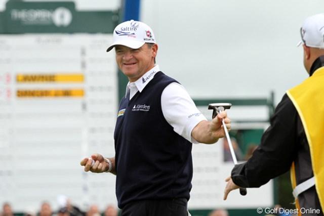 2012年 全英オープン 初日 ポール・ローリー 1999年の全英オープン覇者が、初日からいきなり上位スタート。「65」でプレーし2位タイ
