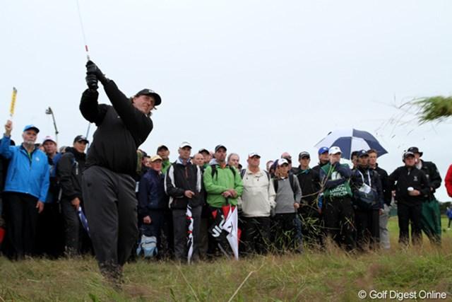 2012年 全英オープン 初日 フィル・ミケルソン やはり全英オープンではいまひとつ調子が上がらない。+3の99位タイはまずまずの出だしなのかも?