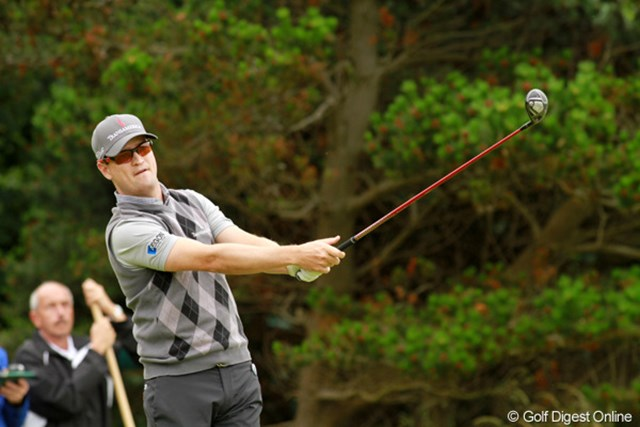 2012年 全英オープン 初日 ザック・ジョンソン 「64」を出したスコットに1打届かないものの、「65」で2位タイのスタート。メジャー優勝は十分に狙える選手だ