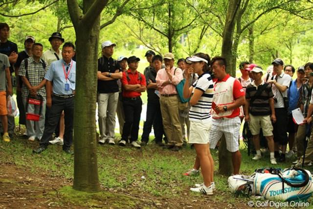 2012年 サマンサタバサ ガールズコレクション・レディーストーナメント 最終日 全美貞 木戸ちゃんと並走していたミジョンも15番Par5のセカンドショットでクラッシュ。