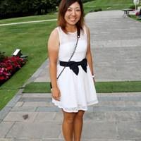大ラウンド終了後のパーティに出席。真っ白なワンピースで登場 2012年 エビアンマスターズ 3日目 宮里美香