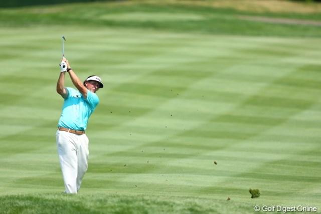 2012年 WGCブリヂストンインビテーショナル 初日 フィル・ミケルソン なんかブルーが似合わないなぁ。