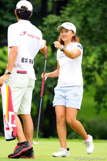 2012年 meijiカップ 最終日 櫻井有希 「いい経験になりました」と櫻井。最終日に「69」をマークし、優勝争いに加わるも1打及ばずプレーオフ進出はならなかった