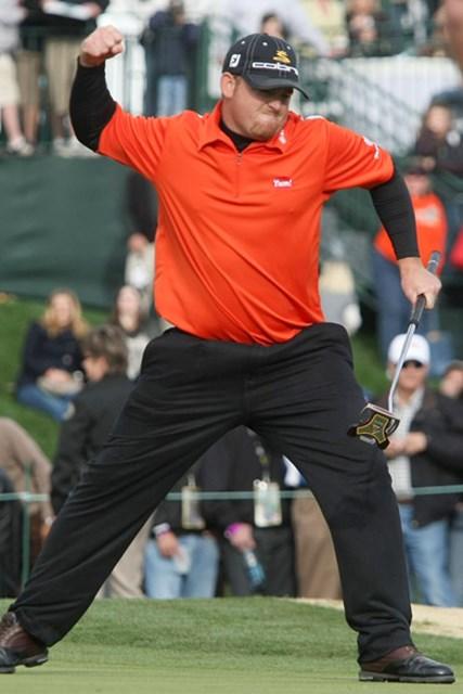 昨年はJ.B.ホームスがプレーオフでP.ミケルソンを撃破した(Stephen Dunn /Getty Images)