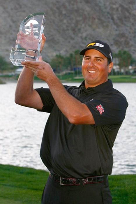 逆転で嬉しいツアー初勝利を飾ったP.ペレス(Jeff Gross /Getty Images) パット・ペレス