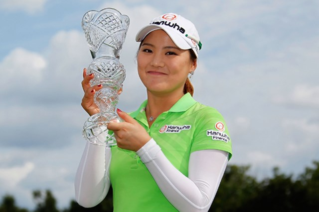 混戦を抜け出したのは、昨年の全米女子オープンチャンピオンのリュー・ソヨン (Gregory Shamus/Getty Images)