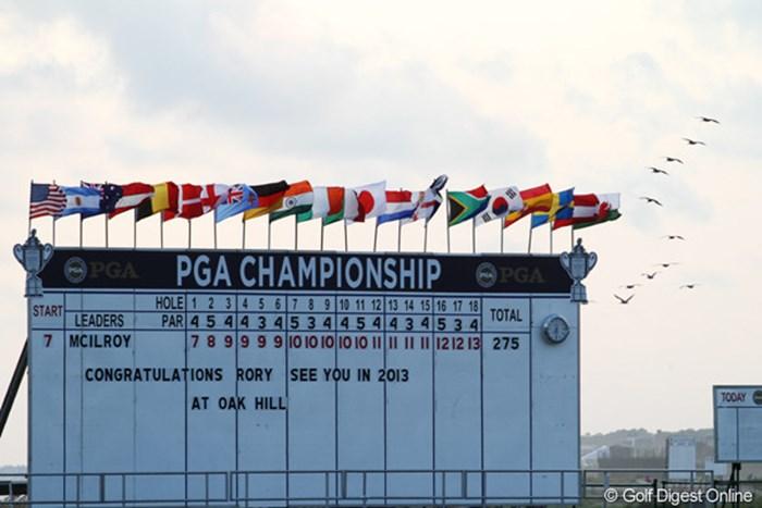 来年の全米プロはニューヨーク州ロチェスターのオークヒルで開かれる。前回の優勝者はショーン・ミキール 2012年 全米プロゴルフ選手権 最終日  2013年オークヒルCC