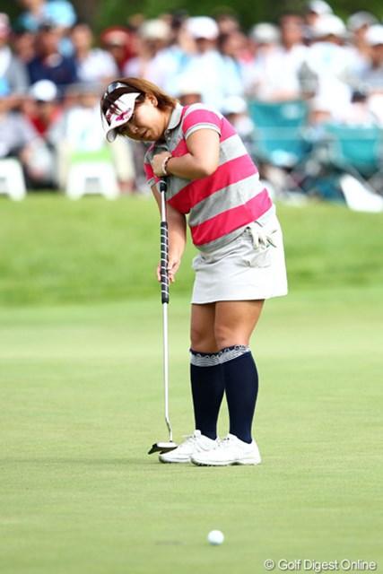 2012年 NEC軽井沢72ゴルフトーナメント 最終日 吉田弓美子 プレーオフ6ホール目に1.5mのバーディパットを沈めて決着。ツアー初勝利を手にした吉田弓美子
