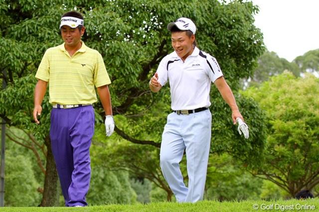 ホームでの勝利を狙う奈良県出身の藤本佳則。開幕前日の練習日は、東北福祉大学の先輩・池田勇太とラウンドをともにした
