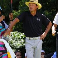 おや? 立山さん、今日は爽やかな感じですね。 2012年 関西オープンゴルフ選手権競技 初日 立山光広