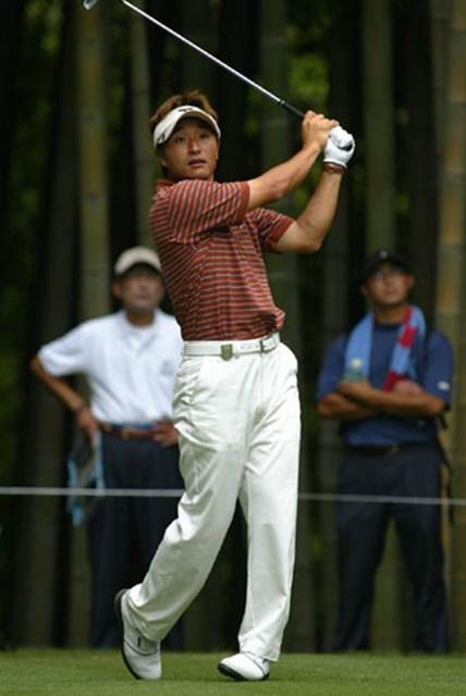 2003年 日本ゴルフツアー選手権 初日 宮本勝昌 1イーグル、3バーディ首位に立った宮本勝昌