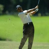 6アンダーをマークし、初日単独首位の河村雅之 2003年 サントリーオープンゴルフトーナメント 初日 河村雅之