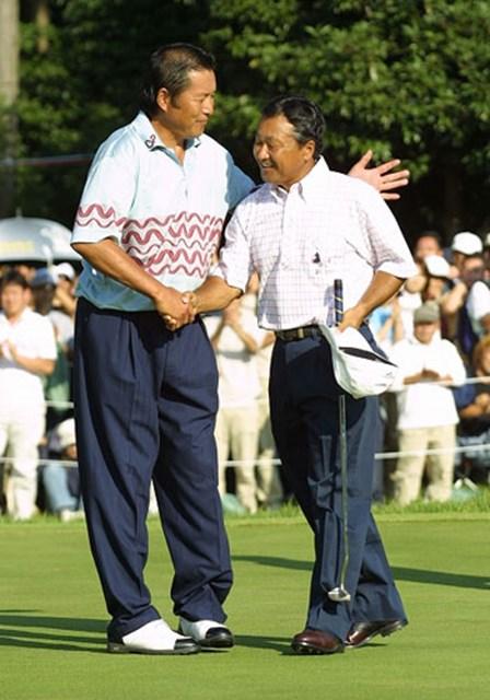 2003年 アコムインターナショナル 最終日 倉本昌弘 プレーオフにもつれるものの見事優勝を飾った倉本昌弘